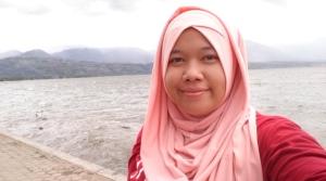 Narsis di Danau Singkarak :p