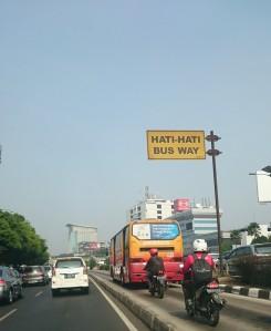 Bus Way pun hajaaarrrr...