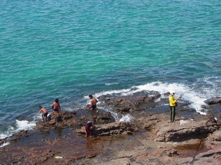 Mancing. Pantai Tanjung Aan, Lombok