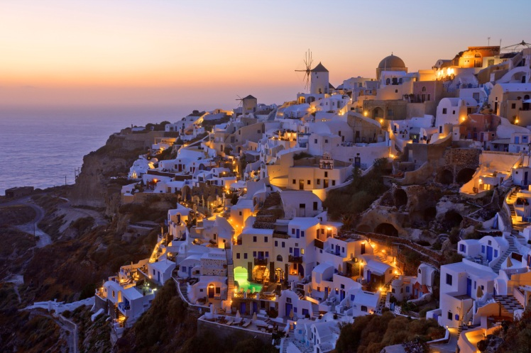 Santorini, Greece (source: lonelyplanet)